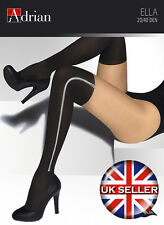 Ella Ladies Zip Patterned Tights 20 / 40 Denier  (Color Variation) Sizes S-XXL
