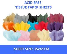 """50 Sheets of Acid Free 45cm x 35cm Tissue Paper - 18gsm Wrapping Paper 18"""" x 14"""""""