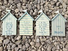 Nautical Seaside Beach Hut Sign Plaque Shabby Chic Home Gift East of India