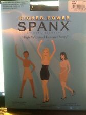 NEW PAIR SEALED HIGH WAISTED POWER PANTY SPANX BY SARA BLAKELY BLACK SIZE B TO E