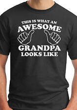 This Is What An Awesome Grandpa Looks Like T Shirt proud new grandparents day