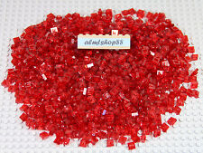 LEGO - 1x1 Translucent Red Plates Lot Trans Red Dots Small Huge Bulk Block