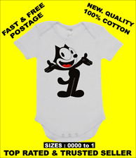 BABY ONE PIECE, ROMPER. ONESIE.  with classic cartoon character FELIX THE CAT