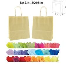 Cheap 20x18x8cm Ivory Paper Party Loot Bag Wedding Favour Gift Bags & Tissue