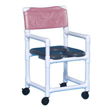 SOFT SEAT WHEELED ROLLING SHOWER  CHAIR MADE FROM NO-RUST PVC