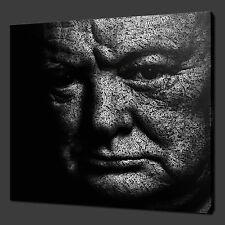 WINSTON CHURCHILL MODERN CANVAS PRINT ART MANY COLOURS READY TO HANG