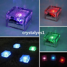 1PC Solar Power Crystal Glass Brick Deck Outdoor Road Square Yard light D003