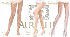 Wedding Holy Communion Pantyhose Hosiery White Ladie's Girl's Patterned Tights