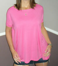 Sexy PIKO Dolman Wide Open Boat Neck Dolman Sleeve Tunic Top Shirt Pink S/M/L