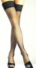 "Be Wicked! 666 Stockings Fishnet Lycra/Spandex 5"" Lace One Size Regular Black"