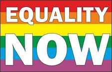 EQUALITY NOW IRON ON T SHIRT TRANSFER LESBIAN/ GAY