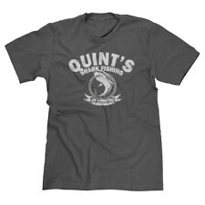 QUINT'S SHARK FISHING JAWS RETRO FUNNY SHARK WEEK DEADLIEST CATCH T-SHIRT TEE