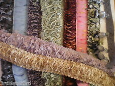 FRINGE TRIM~BEADED~BROOM~CONFETTI~CHENILLE~YOUR CHOICE~SAMPLE OR YARD~ FREE S&H