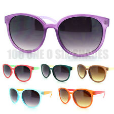New 2-Tone Summer Color Round Sunglasses Horn Rimmed  (6 Colors)