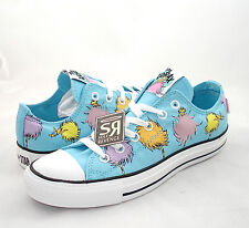 New Converse DR. SEUSS The Lorax Lo All Star Chuck Taylor Blue Green White Shoes