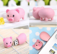 New Cartoon pig Model usb memory flash stick thumb pen drive 4-32GB