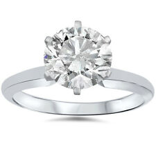1.07 Ct Diamond Solitaire Engagement Ring 14K White Gold H-I/I2-3 (Not Enhanced)