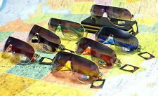 New Khan Shield Wrap Around Mens Sunglasses Shades + Free Pouch KN1243