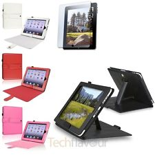 Pink/Red/White/Black PU Folio Leather Case Cover Stand For iPad 1 Gen Free Film