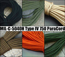 Genuine 750 Paracord - Type 4 MIL-C-5040H & PIA-C-5040 11 Core Strands - USA IV