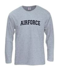 AIR FORCE logo Embroidered patch Long Sleeve T-Shirt Airborne USA Military Army