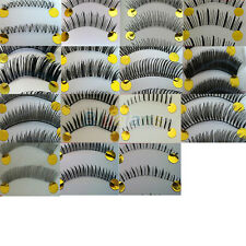 10 Pairs Eye Makeup Natural False Eyelashes Invisible Clear Band Cosmetic Tool