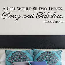 COCO CHANEL, LARGE WALL STICKER, Classy, Fabulous, Girl, Fashion, WallArt, SS413