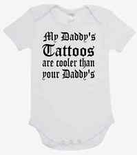 BABY ONE PIECE, ROMPER. ONESIE.: MY DADDY'S TATTOOS ARE COOLER THAN YOUR DADDY'S