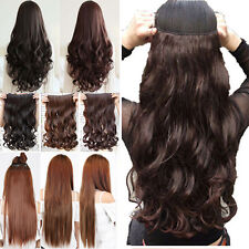 Ladies 3/4 full head Clip In Hair extensions 1Pcs Half head Piece extension