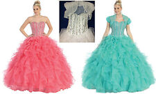 Quinceanera Sweet 16 Ball Gown Dress Party Prom Evening Cocktail Pageant 4~20