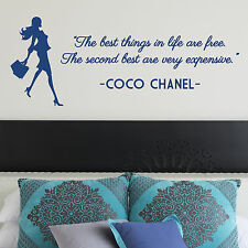 COCO CHANEL, LARGE WALL STICKER, Fashion, Free, Expensive, WallArt, SS453