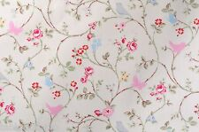 BIRD TRAIL PVC WIPE CLEAN OILCLOTH CLARKE & CLARKE TABLE CLOTH click for sizes