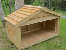 OUTDOOR CEDAR CAT DOG RABBIT FERAL FEEDING STATION FOOD SHELTER HOUSE