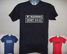 MENS FUNNY T-SHIRT: WARNING GRUMPY OLD GIT, MEMORY LOSS etc  S to 5XL  Dad