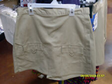 NWT Dickies Girls School Uniform Khaki 2 Front Pocket Skort