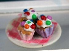 Dolls House Miniature 1/12th Scale Cakes on a Plate - Various Available