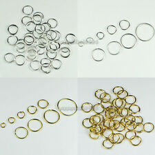 3mm,4mm,5mm,6mm,7mm,8mm,9mm,10mm,12mm Metal Open Jump Rings Silver/Gold Plated