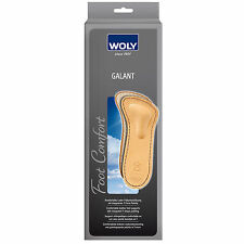 Shoe Insoles GALANT Leather Footbeds for Flat Feet