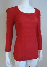 NWT Cristina V SCOOPNECK LARGE SHIRT TOP BLOUSE True RED RAYON $68 size M or L