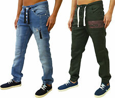 MENS DESIGNER ZICO JEANS CUFFED CHINOS JOGGERS TAPERED FIT CARGO COMBATS DENIMS