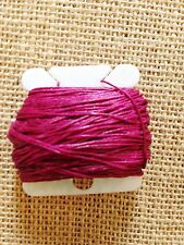 MAGENTA PINK Waxed Irish Linen Crawford Bead Cord 3 ply 0.7mm 5 - 110 yards