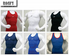 Mens Body Muscle Compression Skin Gear Under Base Layer Tank Top Gym Vest Tight