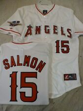 3520 Licensed MAJESTIC Angels TIM SALMON 2002 WORLD SERIES Sewn Jersey