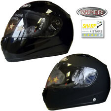 VIPER RS-33 Full Face Motorcycle Motorbike Helmet Sharp Rating 4 stars ACU Gold