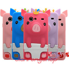 3D Cute Pig Soft Silicone Back Case Cover for Samsung Galaxy S Advance i9070