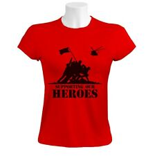 PROUD TO SUPPORT SUPPORTING ARMY HEROES Women T-Shirt World War Back To Back
