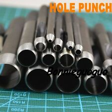 HOLE/Hollow PUNCH SET CARBON Steel Leather Gasket Paper Plastic Wood Belt