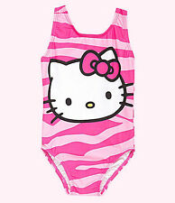 NEW SANRIO HELLO KITTY ZEBRA ONE PIECE SWIMSUIT SIZE 4 5/6 6X