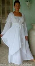 white dress peasant layered renaissance  M L XL 1X 2X 3X 4X ONE SIZE PLUS SIZE
