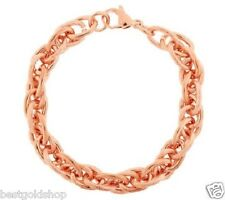 Ribbed Shiny Rope Link Bracelet Stainless Steel by Design QVC J279767 FREE SHIP